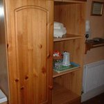  Cabinet with kettle and tea makings