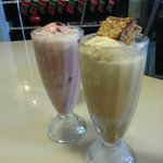 Our two soda floats - YUM!
