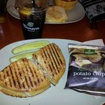 Cuban chicken sandwich. :-) GOOD...