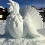  Scultura di neve presso Selva