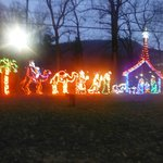 Oconaluftee Islands Park Christmas Lights displays