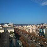  Vue de la terrasse sur le Paseo de Gracia