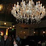  Bar and chandelier