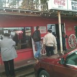Pitt Stop BBQ just off highway 69 South