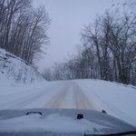 Road Heading to Snowhoe Ski Resort - 6pm