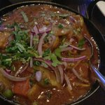 One of four curry-dishes I had the pleasure of being served