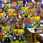 If you can hold a paint brush in one hand and a wine glass in the other...you can paint!