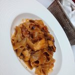 Papardelle con pulpo
