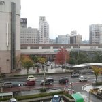  Matsue Station from room 410.