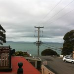  view from balcony of room in Amos House in Swansea, Tasmania on Tuesday 1 January 2013