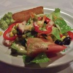 Serving of salad with fried yuca