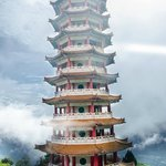 It such a beautiful place to relax in peace. Inside the Pagoda there are 10,000 'blessing lamps'