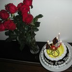  (Almost)dozen roses and bday cake