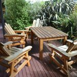 Shared kitchen outdoor seating area