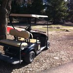 you can rent golf carts (but no need too...)