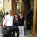  With the lovely owners of Savoia