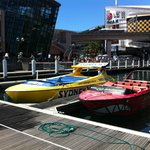 Boats at Cockle Bay Wharf Darling Harbor