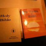 there's not only a Bible in the room! :P