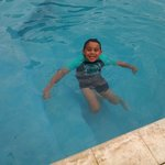  My son enjoying the pool.