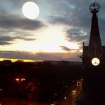  Sunset over Krakow (the big globe is a reflection of the light in the common room)