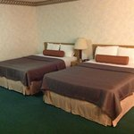 looks like we got an updated room cause the beds were different from the picture on the website
