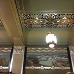 Ceiling in a waiting room at the Durham Museum