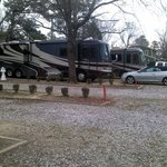 Site 74 foreground, site 72 motorhome/car