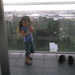 My daughter out on the balcony dancing lol.