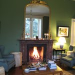 Our cozy fire in the sitting room each night