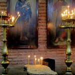 Icons and candles, St Sofia church