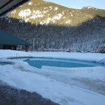 Outdoor pool in the winter