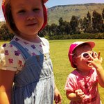  Our girls loving the Kamberg