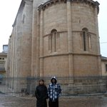 Zamora. Romanesque church; freezing ( but happy ) tourists