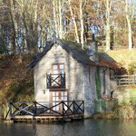 The stunning boathouse!