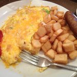 Fantastically fresh, cheezy omelette, best hotel breakfast ever!