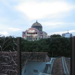 View of the Opera house (Teatro Amazonas) from the rooftop terrace.