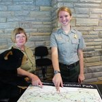 Oconaluftee Visitor Center Rangers and Milky Bear