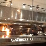  A quick shot from my table at the kitchen staff hard at work behind the glass