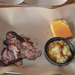 Brisket With Cornbread and Bread Pudding