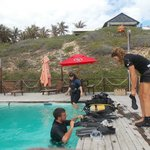  Preparing for first dive