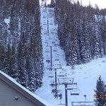 One of the ski lifts to the top of the mtn.
