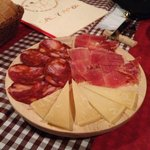 chorizo, jamon y manchego