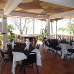 Dining area in open air restaurant