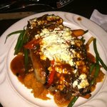 The steak with blue cheese, the portions were massive and delish