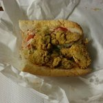  Half an Oyster PoBoy - a meal in itself