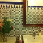  Shared bathroom- I want these tiles!