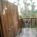 outdoor shower off my room. very private. great view