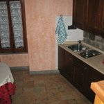  our kitchen - very well equipped(plates, dishes, glasses, fridge, stove...)