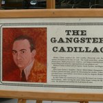 Info plaque: Mickey Cohens 1950 Cadillac (Movie: Gangster Squad)