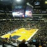  view from section 19, row 28. pacers vs wizards